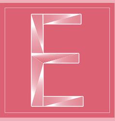 Decorative font stylized letter e vector