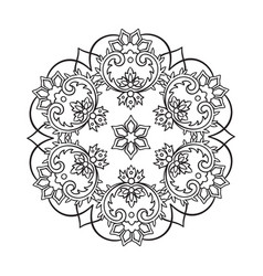 Decorative indian round lace ornate mandala vector