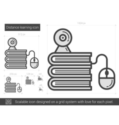 Distance learning line icon vector image