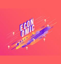 economic vibrant gradient poster template vector image