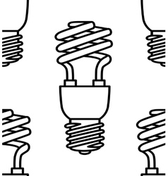 Energy saving light bulbs seamless pattern vector image