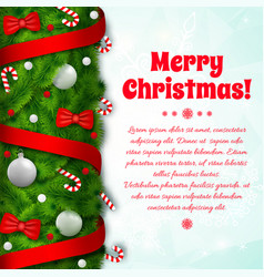 festive holiday template vector image