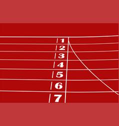 Finish line red running track vector