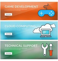 Flat design concept for game development cloud vector