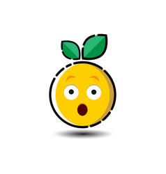 fresh fruit emoticon symbol vector image
