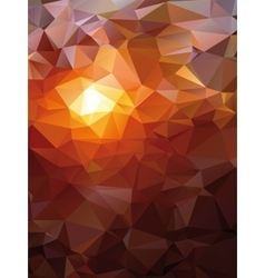 Geometric Polygonal Sunset Landscape with vector image