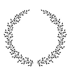 hand drawn wreath with leaves vector image
