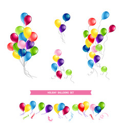 Happy birthday card set vector