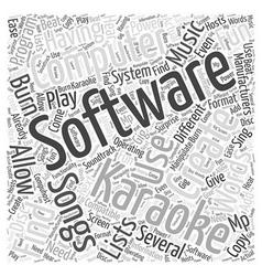 Having Fun With Karoke Computer Software Word vector