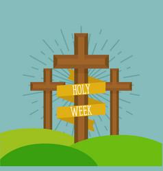Holy week card vector