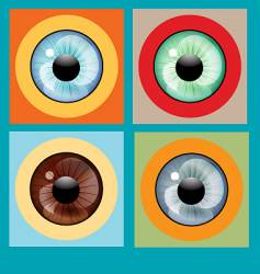 Human eye colors vector