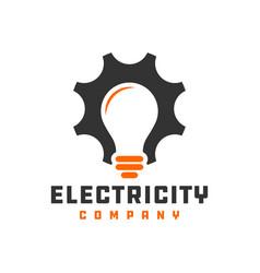 incandescent lighting logo vector image