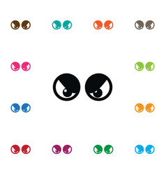 isolated eyeball icon view element can be vector image