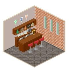 Isometric bar interior vector
