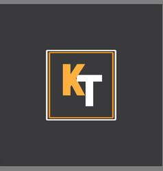 K t letter logo icon design vector