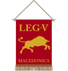 legio v macedonica vii standard vector image