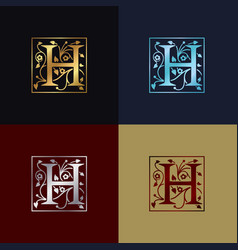 letter h decorative logo vector image