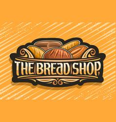 Logo for bread shop vector