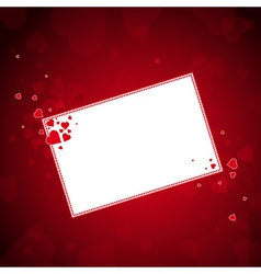 lovely red hearts with label vector image