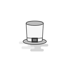 magician hat web icon flat line filled gray icon vector image