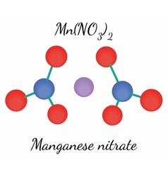 Manganese nitrate MnN2O6 molecule vector image