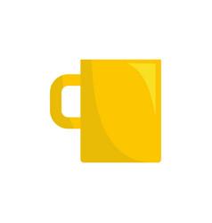 mug icon flat style vector image