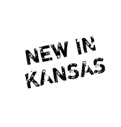 New in kansas rubber stamp vector