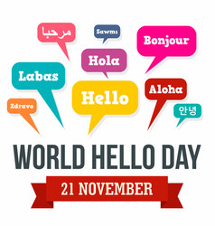 November hello day concept background flat style vector