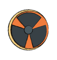nuclear danger symbol vector image