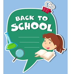 Paper design with back to school theme vector image