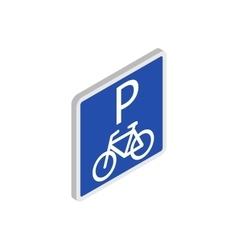 parking for bicycles icon isometric 3d style vector image