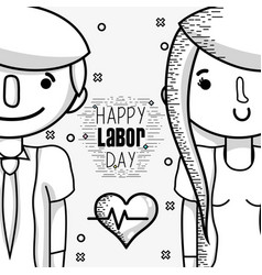 People celebrating labor day holiday vector