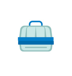Pet carrier line icon vector