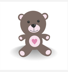 pink teddy bear with shade on a white background vector image