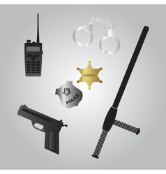 Police equipment icon eps10 vector