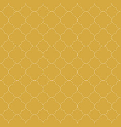 quatrefoil seamless pattern background in golden vector image