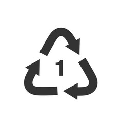 Recycle arrow triangle pete types 1 icon vector