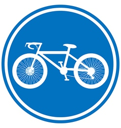 Round bicycle lane sign vector image