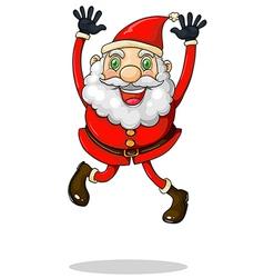 Santa Claus jumping vector image