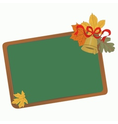 School board with leaves vector image