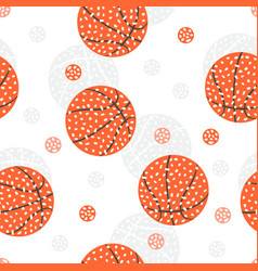 seamless pattern with basketball abstract vector image