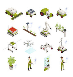 Smart farming icon set vector