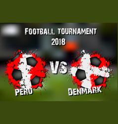 soccer game peru vs denmark vector image
