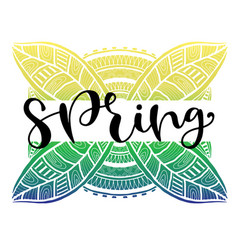 Spring typography icon calligraphic social media vector