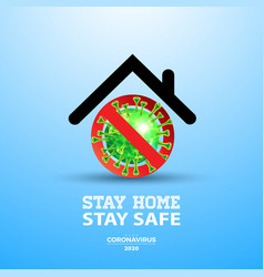 stay home stop coronavirus design with falling vector image