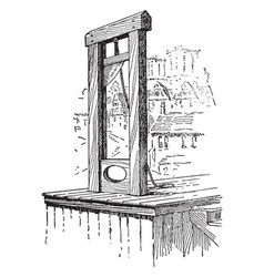 The guillotine vintage vector
