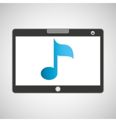 touchpad digital music wireless vector image