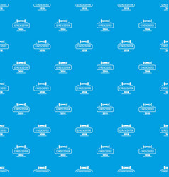 Travel gyro scooter pattern seamless blue vector