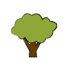 tree eco symbol vector image