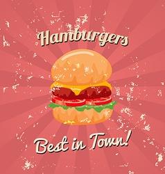 Vintage hamburger poster vector
